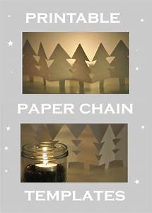 free printable holiday paper chain template link vorlage With snowman paper chain template
