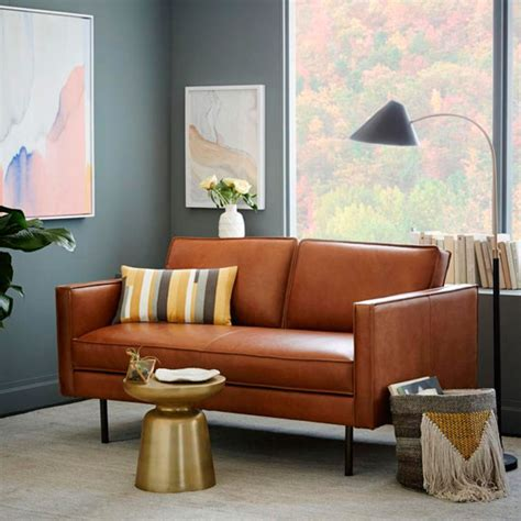 Brown Dfs Sofa by Style Guide To Leather Sofas Ideal Home