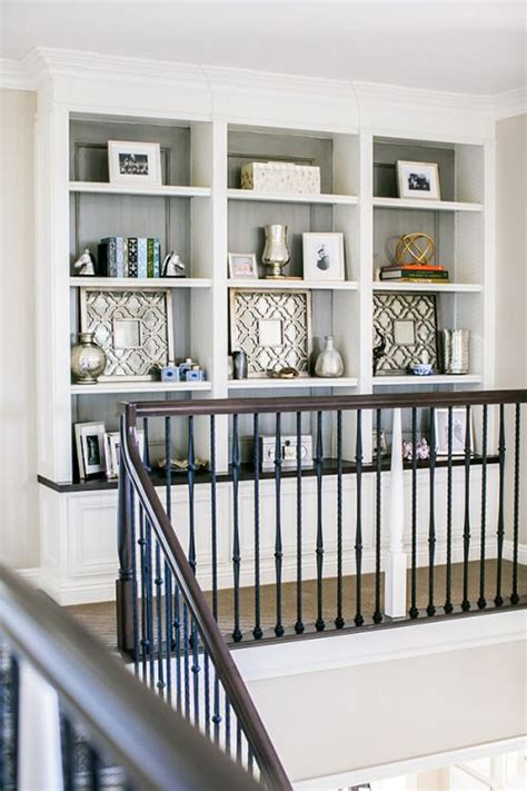 Ideas For Upstairs Landing by Built In Shelves At Top Of Stairs Landing In 2019