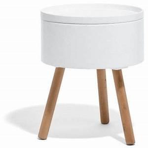 Table De Nuit Fille : bout de canap coffre blanc charlotte ~ Melissatoandfro.com Idées de Décoration