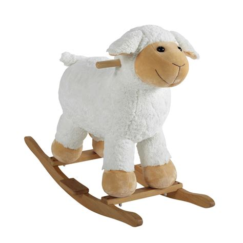 mouton maison du monde mouton 224 bascule en bois h 60 cm pompon maisons du monde