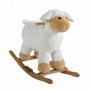 Mouton à Bascule : mouton bascule en bois h 60 cm pompon maisons du monde ~ Teatrodelosmanantiales.com Idées de Décoration