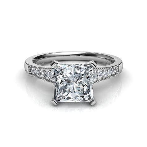 Graduated Milgrain Princess Cut Diamond Engagement Ring In. Original Wedding Rings. Gold Jhumka Earrings. Delicate Engagement Rings. Eyeball Necklace. Cable Rings. Dinosaur Bone Wedding Rings. Cremation Rings. Celtic Bands