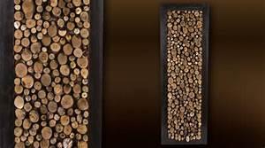 Tableau En Bois Décoration : d coration murale 90 x 30 rondins de bois ~ Teatrodelosmanantiales.com Idées de Décoration