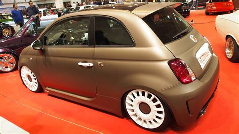 Fiat 500 Abarth Tune by Abarth 500 Tuning At Essen Motorshow Exterior Walkaround