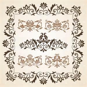 designer vintage set of brown vintage design element vector image 28755 rfclipart