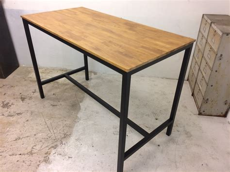 table bois industriel table haute loft industeel