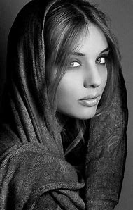 Beautiful Women Faces Black and White