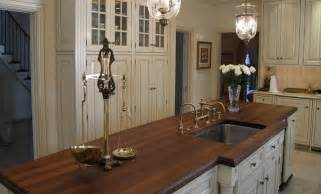 kitchen island wood countertop walnut wood kitchen island countertop with sink by grothouse traditional kitchen countertops