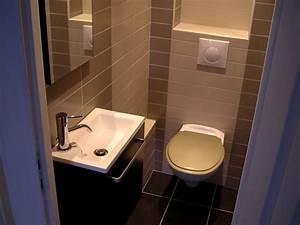 Lave Main Suspendu : espace wc lave mains et wc supendu carrelage sol et mur ~ Nature-et-papiers.com Idées de Décoration