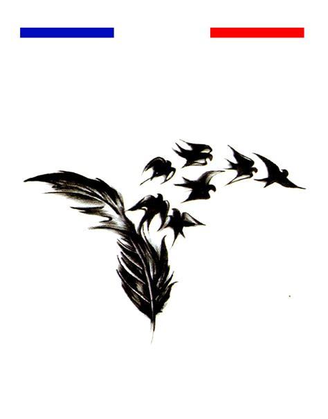 tatouage plume envol oiseaux femme poignet mon petit