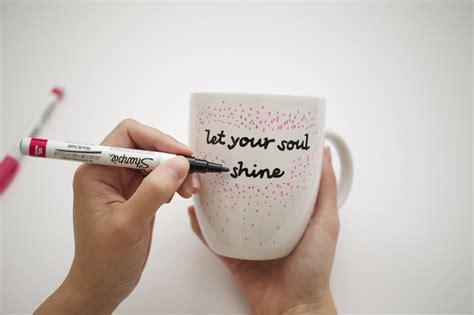 DIY Quote Stenciled Sharpie Mugs   POPSUGAR Smart Living