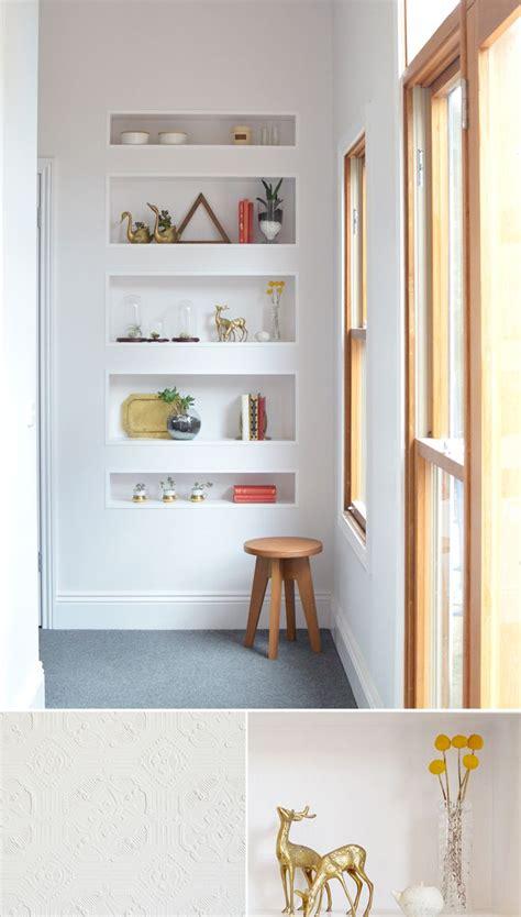 bathroom built in storage ideas best 25 recessed shelves ideas on door studs