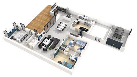 plan maison en l plain pied 3 chambres plan de maison plain pied 150m2 with plan de maison plain