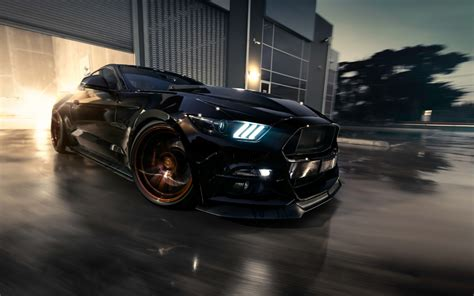 wallpapers ford mustang black sports coupe
