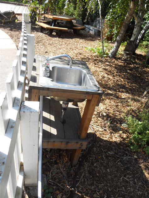 outdoor kitchen sink drain nine nifty ideas from san francisco green schoolyards