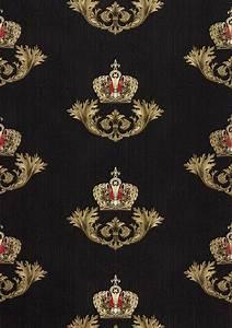 Tapete Barock Schwarz : gl ckler tapete vlies krone barock schwarz glanz 54854 ~ Yasmunasinghe.com Haus und Dekorationen