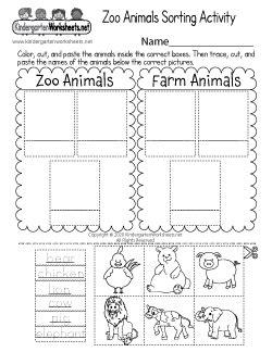 zoo animal math worksheets kindergarten zoo
