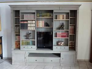 Bibliothque Pour TV Bibliothque TV Directoire En Bois