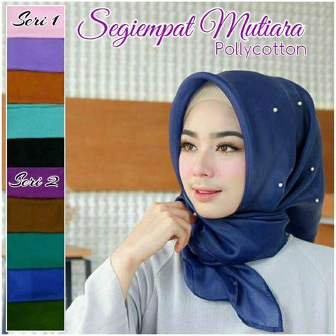 agen kerudung murah jual jilbab segi empat mutiara terbaru motifnya cantik