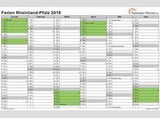 Ferien RheinlandPfalz 2018 Ferienkalender zum Ausdrucken