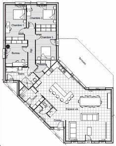 1000 idees sur le theme maison plain pied sur pinterest With attractive plan maison en l 100m2 0 maison familale detail du plan de maison familale