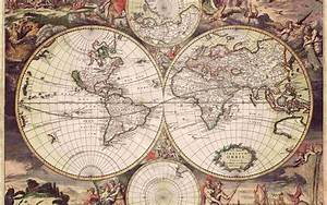 Old World map, 1689 wallpaper