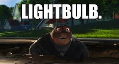 Gru Memes - light bulb idea