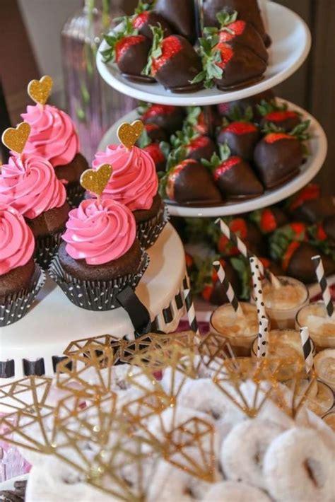 Black White Pink & Gold Bridal/Wedding Shower Party