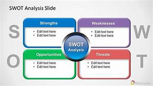 Colorful Swot Analysis Diagram For Powerpoint
