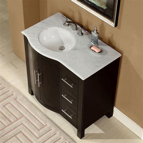 36 vanity with sink accord 36 inch contemporary single sink bathroom vanity