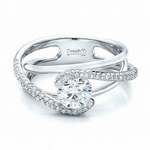 custom split shank pave diamond engagement ring 100885 With pave diamond wedding rings