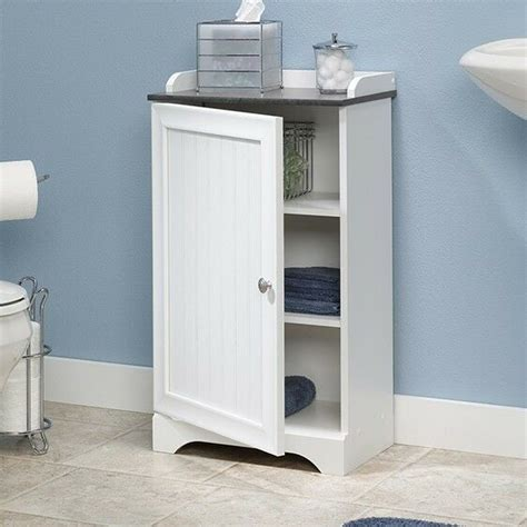 Handtuch Schrank Bad by New Soft White Floor Cabinet Bath Shelf Towel Storage Door