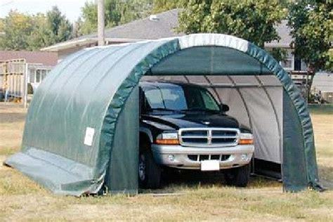 Round Canvas Garage  Portable Garage Shelter