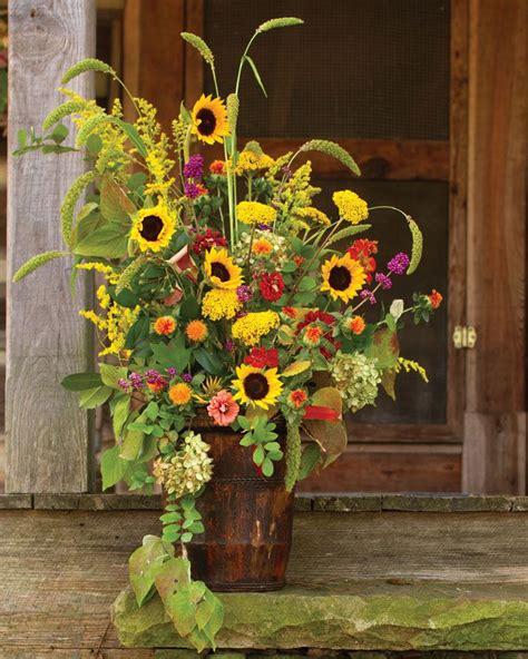 September Sunflower Centerpieces Southern Lady Mag