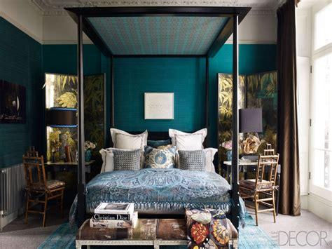 Vintage Bedroom Decor, Teal Blue Master Bedrooms Romantic