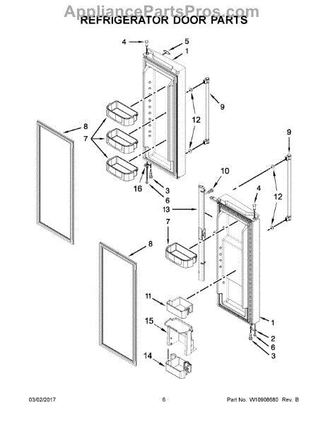 parts  maytag mfffrz refrigerator door parts