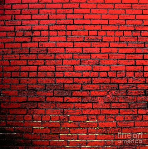 Red Brick Wall Photograph By Victor Sexton