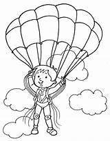 Parachute Coloring Paratrooper Pages Drawing Cloud Drawings Getdrawings Popular 792px 56kb sketch template