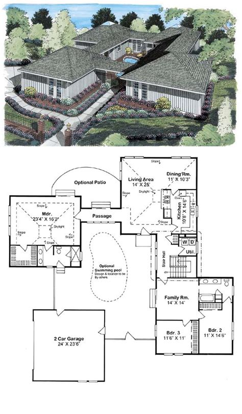 house plans with courtyard pools 16 best images about courtyard house plans on