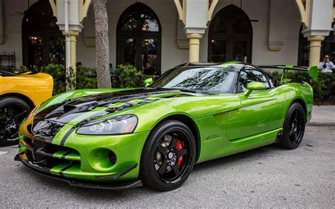 dodge viper auto cars green sport wallpaper allwallpaper