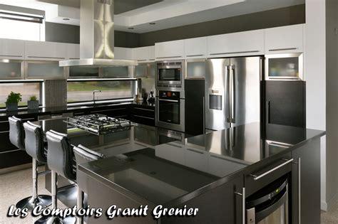comptoir de cuisine noir comptoir cuisine quartz accueil design et mobilier