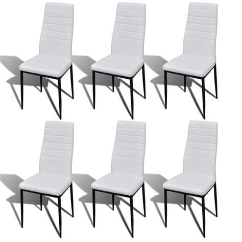 lot 6 chaises blanches acheter lot de 6 chaises blanches aux lignes fines avec