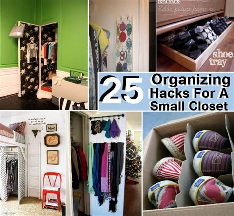 25 awesome organizing hacks for a small closet diy home