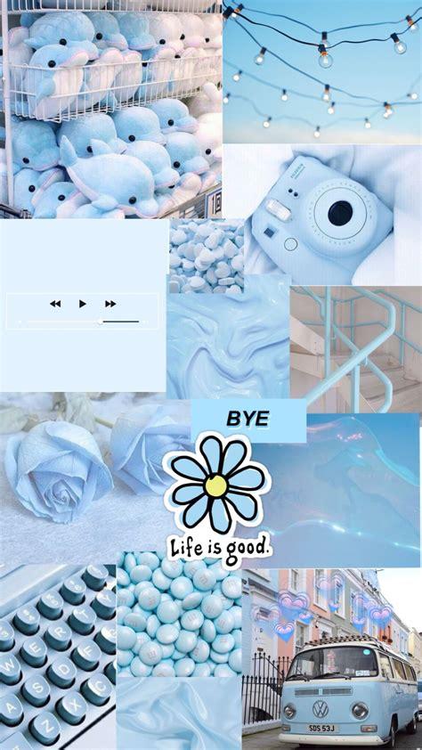 blue aesthetic background warna koral warna aqua