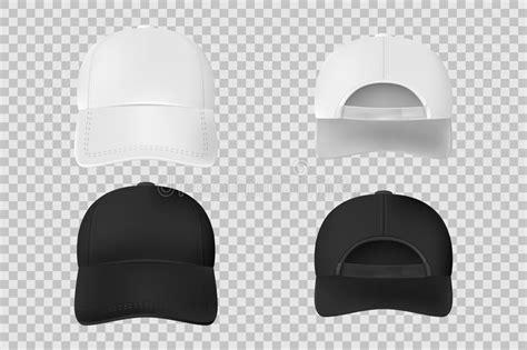 white baseball hat template stock vector illustration