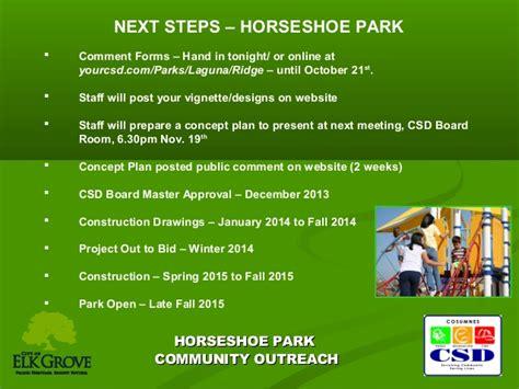 horseshoe park workshop  cosumnes csd