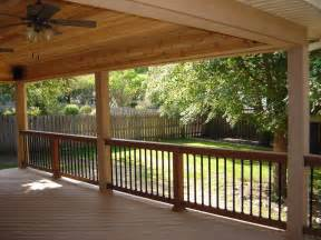 Covered Deck Plans Ideas by Covered Decks Here S A Covered Deck With Two Ceil