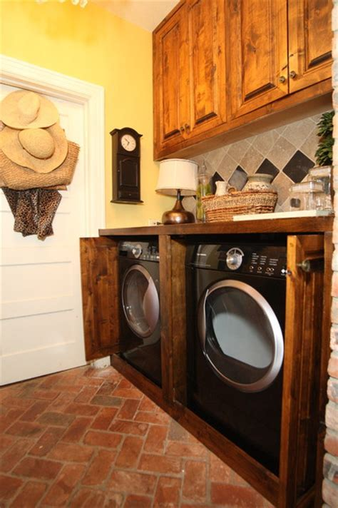 Laundry Room Hidden Washer & Dryer   Traditional   Laundry