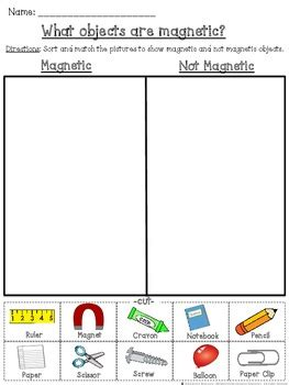 magnetic   magnetic cut  paste sorting activity tpt